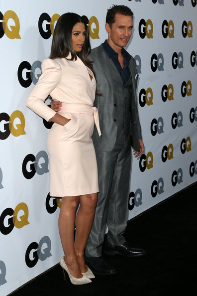 GQ Men Of The Year Party - Arrivals [clothing,dress,premiere,cocktail dress,event,suit,formal wear,style,arrivals,camila alves mcconaughey,matthew mcconaughey,los angeles,california,the ebell club,gq men of the year party]