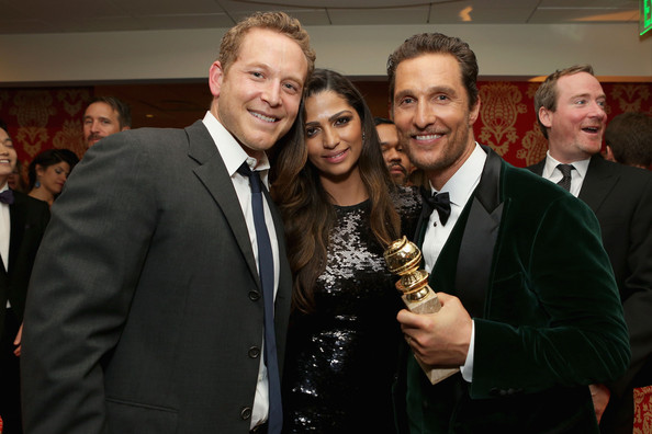 HBO's Golden Globes Afterparty [event,suit,formal wear,matthew mcconaughey,camila alves mcconaughey,cole hauser,l-r,california,los angeles,hbo,party,golden globe awards,golden globe awards party]