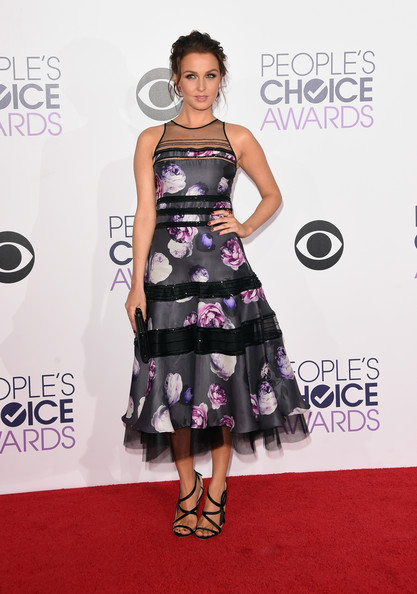 Arrivals at the People's Choice Awards  [clothing,dress,red carpet,fashion model,carpet,shoulder,fashion,premiere,cocktail dress,hairstyle,peoples choice awards,california,los angeles,nokia theatre la live,camilla luddington,arrivals]