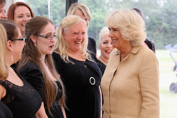 Camilla Parker Bowles The Duchess of Cornwall Visits Commonwealth War Graves & Opens Poppy Pod Village