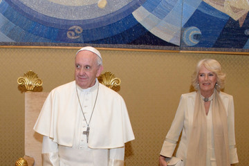 Camilla Parker Bowles The Prince Of Wales And Duchess Of Cornwall Visit Vatican City