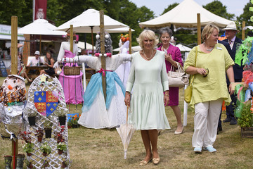 Camilla Parker Bowles The Duchess of Cornwall Visits Hampton Court Palace Flower Show