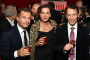 Ugo Fiorenzo, Maggie Gyllenhaal, Jean Jacques Dubau attend as Campari sponsors Opening Night of the 57th New York Film Festival on September 27, 2019 in New York City.