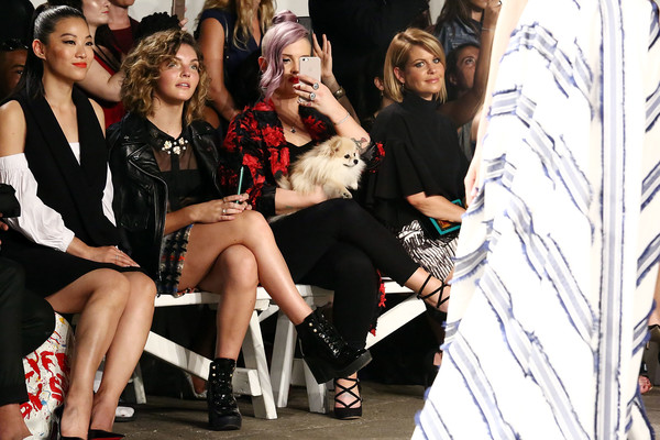 Milly - Front Row - September 2016 - New York Fashion Week [fashion,event,leg,fashion design,thigh,dress,model,photography,performance,haute couture,milly,kelly osbourne,candace cameron bure,camren bicondova,arden cho,milly - front row,l-r,art beam,new york city,new york fashion week]