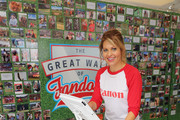 Actress Candace Cameron Bure tests the Canon PIXMA in the Canon booth at the Little League World Series on August 21, 2016 in South Williamsport, Pennsylvania.