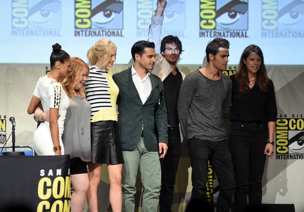 'The Vampire Diaries' Panel at Comic-Con International 2015 [the vampire diaries,event,performance,competition,talent show,kat graham,michael malarkey,ian somerhalder,candice accola,julie plec,paul wesley,caroline dries,panel,comic-con international]