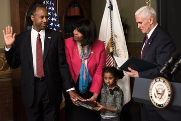 Candy Carson Vice President Pence Swears In Ben Carson As HUD Secretary