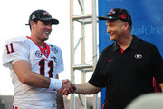 Mark Richt Aaron Murray Photos Photo