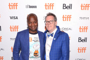 """Ebs Burnough and Thom Powers attend """"The Capote Tapes"""" TIFF Premiere Party on September 07, 2019 in Toronto, Canada."""