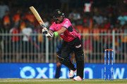 Jacques Kallis of Libra Legends bats during the Oxigen Masters Champions League match between Capricorn Commanders and Libra Legends on February 5, 2016 in Sharjah, United Arab Emirates.