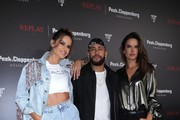 Izabel Goulart, Neymar Jr and Alessandra Ambrosio attend the launch event for the new Capsule Collection Neymar Jr. x Replay at Weltstadthaus on February 13, 2020 in Duesseldorf, Germany.