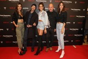 Alessandra Ambrosio, Adrien Brody, Izabel Goulart, Joan Smalls, CEO of Replay Matteo Sinigaglia and attend the launch event for the new Capsule Collection Neymar Jr. x Replay at Weltstadthaus on February 13, 2020 in Duesseldorf, Germany.