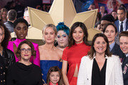 "Lashana Lynch, Anna Boden, Brie Larson, Gemma Chan and Victoria Alonso attend the ""Captain Marvel European Gala"" held at The Curzon Mayfair on February 27, 2019 in London, England."