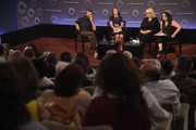 "(L-R) Filmmaker Jeremiah Zagar, Linda Wojas, Linda Kenney Baden, ESQ., and moderator/radio personality Brooke Gladstone take part in a Q&A following a special screening of the HBO Documentary Film ""Captivated: The Trials Of Pamela Smart"" at the Paley Centeron August 13, 2014 in New York City."