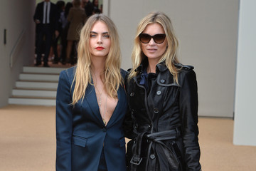 Cara Delevingne Arrivals at Burberry Prorsum