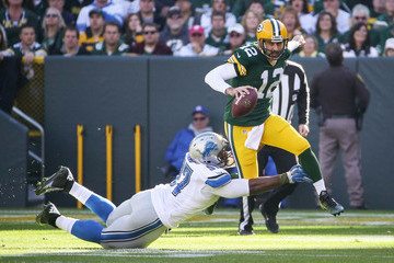 Caraun Reid Detroit Lions v Green Bay Packers
