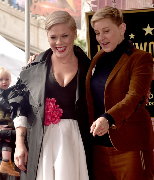 Pink Is Honored With A Star On The Hollywood Walk Of Fame