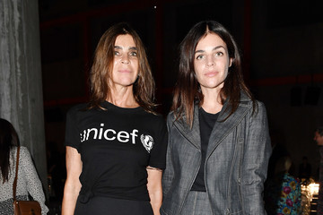Carine Roitfeld Julia Restoin-Roitfeld Prada Spring/Summer 2019 Womenswear Fashion Show – Arrivals and Front Row