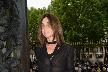 Carine Roitfeld Versace  : Front Row - Paris Fashion Week : Haute-Couture Fall/Winter 2014-2015