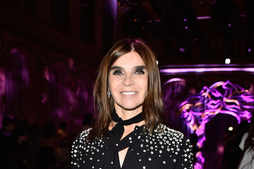 Carine Roitfeld The Front Row at Atelier Versace for Paris Fashion Week