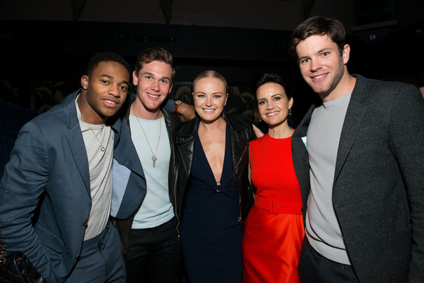 2016 Tribeca Film Festival After Party For Wolves At No.8 - 4/15/16 [wolves,event,suit,formal wear,fashion,fun,smile,photography,night,tuxedo,white-collar worker,actors,malin akerman,taylor john smith,christopher meyer,richard kohnke,carla gugino,l-r,tribeca film festival after party for wolves,party]