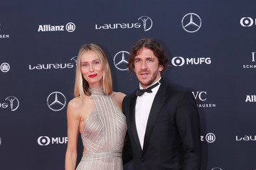 Carles Puyol Vanessa Lorenzo Red Carpet - 2018 Laureus World Sports Awards - Monaco