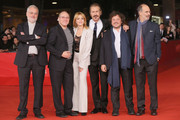 "Director Gianfranco Gianni, actors Carlo Verdone, Claudia Gerini, Marco Giallini, guest and director Fabio Ferzetti attend the ""Carlo!"" Premiere during the 7th Rome Film Festival at the Auditorium Parco Della Musica on November 10, 2012 in Rome, Italy."