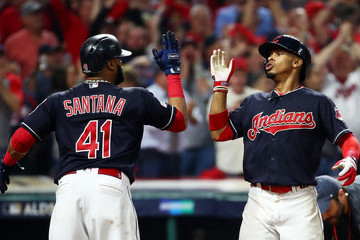 Carlos Santana Divisional Round - New York Yankees v Cleveland Indians - Game Two