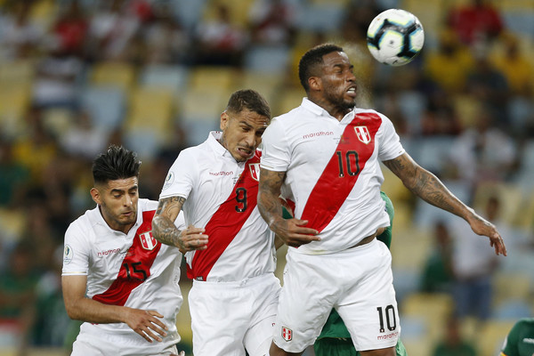European Best Pictures Of The Day - June 19, 2019 [best pictures of the day,copa america brazil 2019,player,sports,team sport,ball game,football player,sports equipment,soccer player,championship,tournament,international rules football,paolo guerrero,jefferson farfan,carlos zambrano,ball,european,peru,maracana stadium,match]