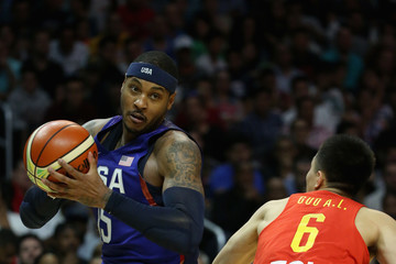 Carmello Anthony China v United States - USA Basketball Showcase