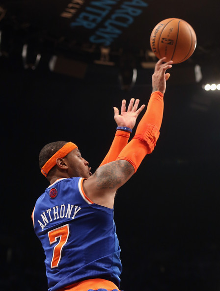 Carmelo Anthony Pictures - New York Knicks v Brooklyn Nets ...