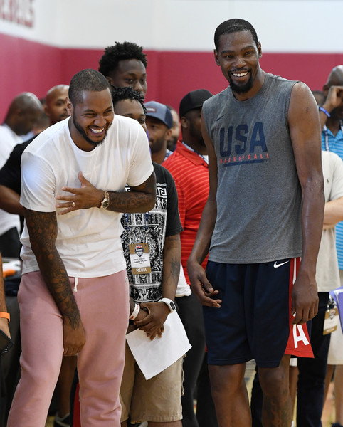 9013f7a9ed44 Carmelo Anthony and Kevin Durant Photos»Photostream · Pictures · 2018 USA  Basketball Men s National Team Minicamp