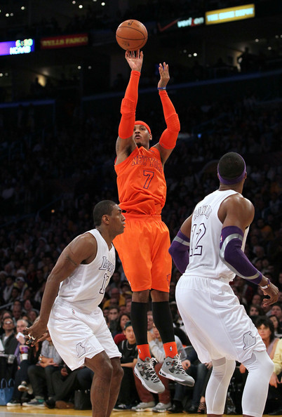 carmelo anthony pictures new york knicks v los angeles