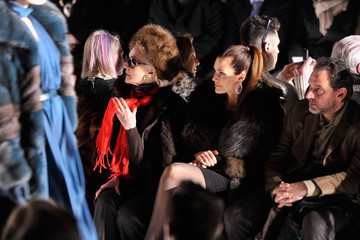 Carmen Dell'Orefice Dennis Basso - Front Row - Mercedes-Benz Fashion Week Fall 2014