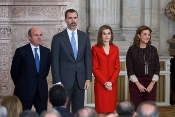 Carmen Vela Spanish Royals Attend Investigation National Awards