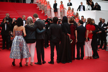 Carole Bouquet Zhang Ke Jia Palm D'Or Winners Red Carpet - The 67th Annual Cannes Film Festival