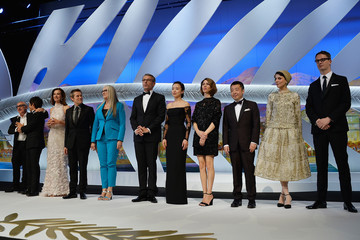 Carole Bouquet Zhang Ke Jia Inside the Cannes Opening Ceremony