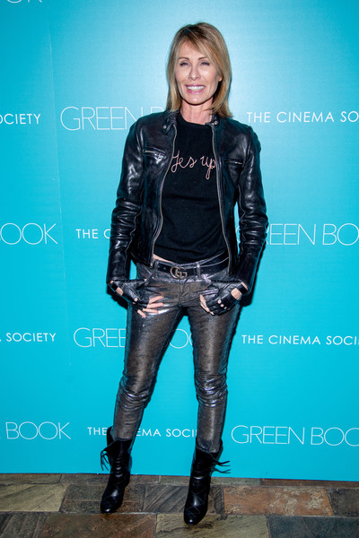 """""""Green Book"""" New York Special Screening [green book,clothing,leather,jacket,lady,leather jacket,fashion,textile,footwear,electric blue,leggings,carole radziwill,new york city,the roxy hotel cinema,cinema society,new york special screening]"""