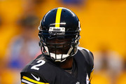 Michael Vick #2 of the Pittsburgh Steelers drops back to pass in the first quarter against the Carolina Panthers during the game at Heinz Field on September 3, 2015 in Pittsburgh, Pennsylvania.