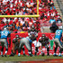 Jameis Winston Photos - Jameis Winston #3 waits for the snap from Joe Hawley #68 of the Tampa Bay Buccaneers during the second quarter of the game against the Carolina Panthers at Raymond James Stadium on October 4, 2015 in Tampa, Florida. - Carolina Panthers v Tampa Bay Buccaneers