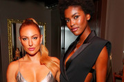 Jennifer Yepez and Amilna Estevao attend Caroline Rush, Julia Restoin Roitfeld and Bloomingdales Celebrate David Koma's 10th Anniversary at The Peninsula Hotel on October 30, 2019 in New York City.