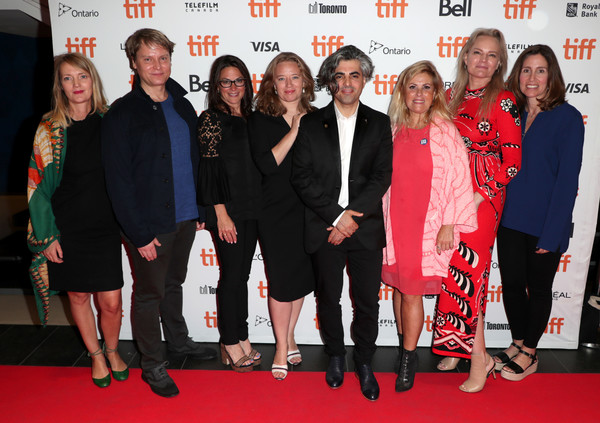 2019 Toronto Film Festival Premiere Of National Geographic Documentary Films' 'THE CAVE' [toronto film festival premiere of national geographic documentary films,the cave,red carpet,premiere,event,carpet,flooring,team,eva mulvad,sigrid dyekj\u00e3,feras fayyad,kirstine barfod,pernille rose gr\u00e3,vp,national geographic,premiere]