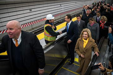 Carolyn Maloney Governor Cuomo Makes Announcement At New 96th St. 2nd Avenue Subway Line Station
