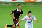 Andrea Lazzari of Carpi FC keep the ball during the TIM Cup match between Carpi FC and AS Livorno at Stadio Sandro Cabassi on August 16, 2015 in Carpi, Italy.