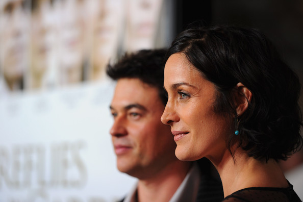 """""""Fireflies In The Garden"""" Premiere - Red Carpet [fireflies in the garden,red carpet,nose,cheek,hairstyle,chin,forehead,human,smile,black hair,photography,white-collar worker,carrie-anne moss,steven roy,r,california,los angeles,pacific theaters,grove,premiere]"""