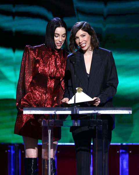 2020 Film Independent Spirit Awards  - Show [performance,event,performing arts,stage,talent show,musician,carrie brownstein,st. vincent,l-r,santa monica,california,film independent spirit awards,show,singer-songwriter,song,musician,artist,duet,product,songwriter]