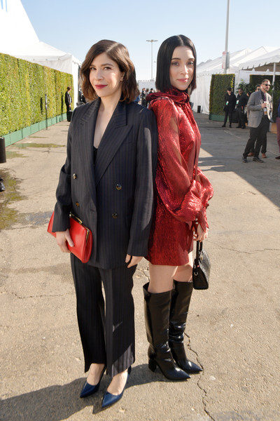 2020 Film Independent Spirit Awards  - Cocktail Reception [clothing,snapshot,fashion,street fashion,footwear,outerwear,costume,uniform,photography,fashion design,st. vincent,carrie brownstein,l-r,santa monica,california,film independent spirit awards,reception,carrie brownstein,st. vincent,35th independent spirit awards,image,photograph,explore,entertainment,livingly media,television,film independent]