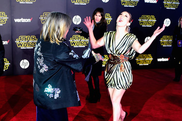 Carrie Fisher Billie Lourd The Premiere of 'Star Wars: The Force Awakens' - Instant View