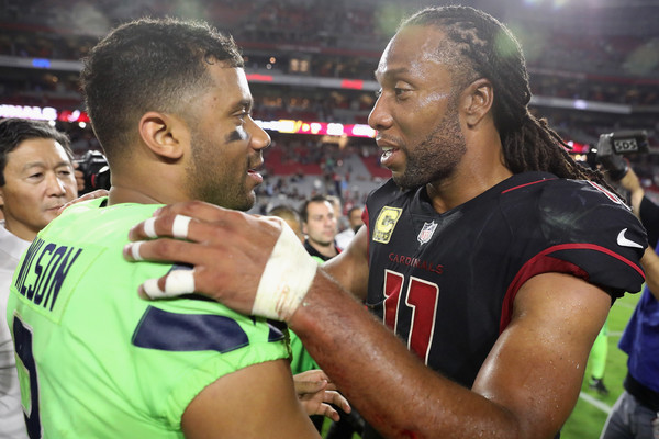 Seattle Seahawks vArizona Cardinals [sports,team sport,player,product,championship,ball game,competition event,team,tournament,fan,larry fitzgerald,russell wilson,university of phoenix stadium,arizona,glendale,arizona cardinals,seattle seahawks,nfl,game]