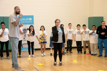 Caryl Stern UNICEF Kid Power Kicks Off In Dallas With UNICEF Ambassador Tyson Chandler and Mayor Mike Rawlings